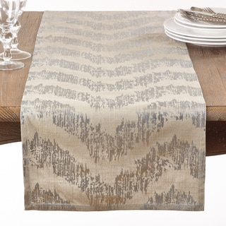 Metallic Banded Chevron Table Runner