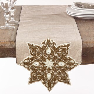 Beaded Star Design Table Runner