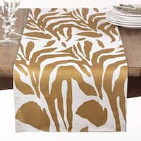 Metallic Animal Print Table Runner