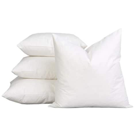 A1HC Sterilized Feather Down Extra Fluff and Durable Pillow Insert (Set of 2)
