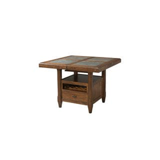 Wolf Creek Vintage Acacia Stone Top Gathering Table/Base