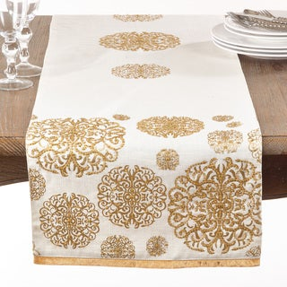 Beading Flourishes Table Runner