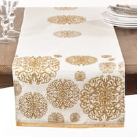 Beaded Medallion Cotton Table Runner