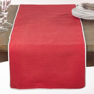 Classic Table Runner With Piping (Option: Orange/Pink)