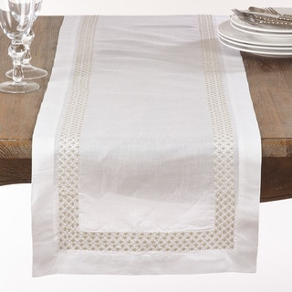 Metallic Embroidered Dots Table Runner