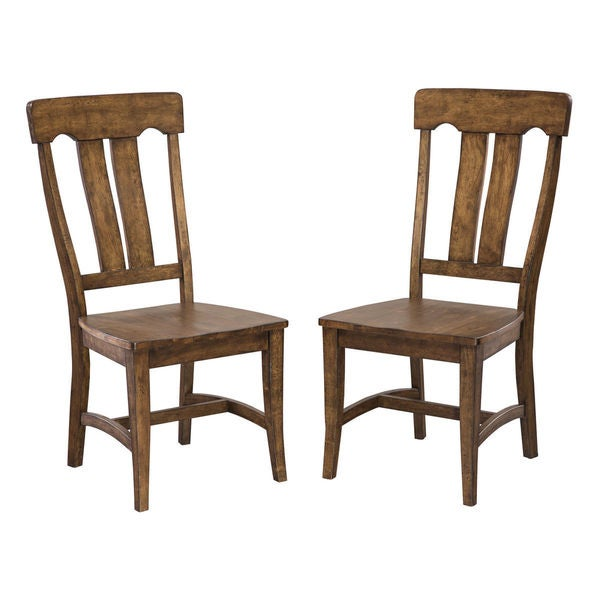 Intercon Industrial Copper Finish Splat Back Dining Chair -set of 2