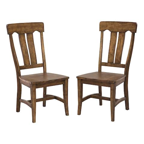 The District Copper Finish Splat Back Dining Chair (Set of 2)