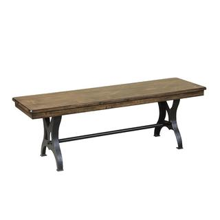 The District Industrial Copper Finish Cast Metal Dining Bench