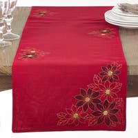 Red Poinsettia Table Runner