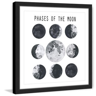 Marmont Hill - 'Moon Phases' by Diana Alcala Framed Painting Print
