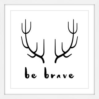 Marmont Hill - 'Brave Antlers' by Diana Alcala Framed Painting Print