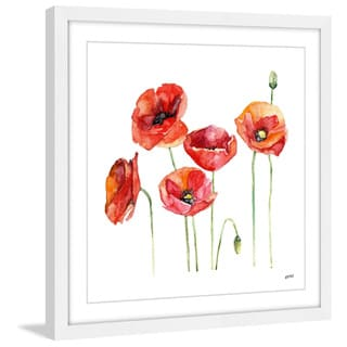 Marmont Hill - 'Poppie Field' by Rachel Byler Framed Painting Print