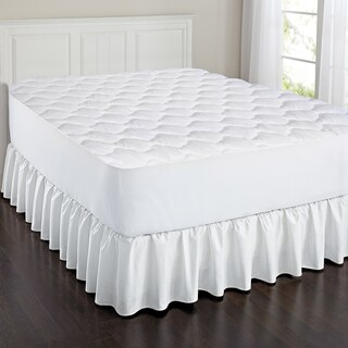 Triple Layer Cotton Touch Quilted Mattress Pad - White