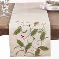 Holly Leaf Applique Table Runner