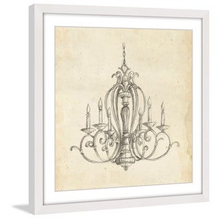 Marmont Hill - 'Classical Chandelier I' Framed Painting Print