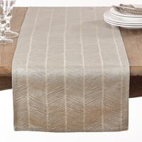 Silver Herringbone Table Runner