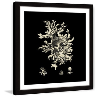 Marmont Hill - 'Black & Tan Coral III' Framed Painting Print