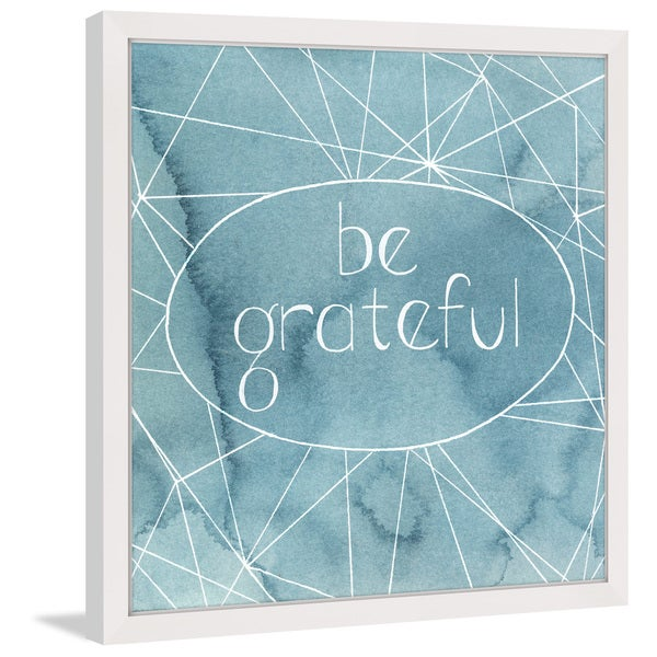 Marmont Hill - 'Be Grateful' Framed Painting Print