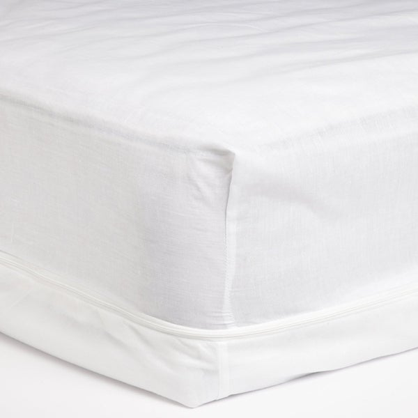 Cotton Touch Zippered Mattress Protector - White