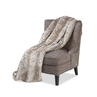 Michael Amini Bedrock Faux Fur Throw