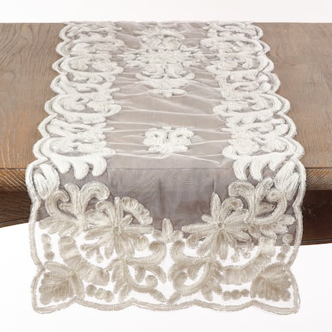 Beaded and Embroidered Table Runner