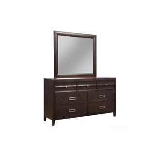 Alpine Legacy Black, Cherry Wood and Veneer 7-drawer Dresser