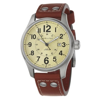 Hamilton Men's Brown Leather Chronograph Watch