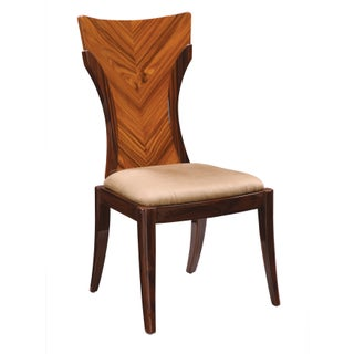 Global Furniture Wood and Faux Leather High-gloss Dining Chair