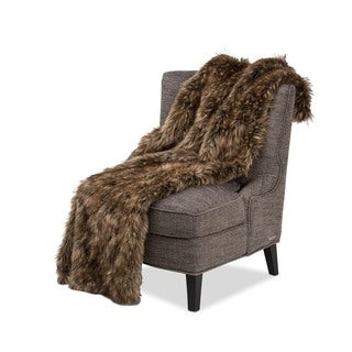 Michael Amini Braeburn Faux Fur Throw