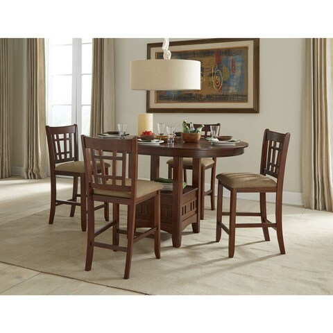 Mission Casual Dark Planed Oak 42x42-60 Gathering Table - N/A