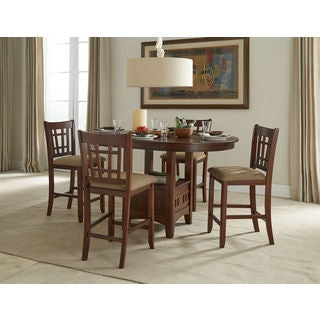 Mission Casual Dark Planed Oak 42x42-60 Gathering Table