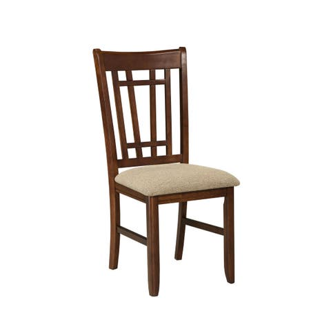 Mission Casual Dark Planed Oak Dining Chair -set of 2