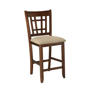 Mission Casual Dark Planed Oak Counter Height Barstool -set of 2