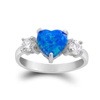 Sterling Silver Austrian Crystal and Created Blue Opal Heart Ring|https://ak1.ostkcdn.com/images/products/12991130/P19737434.jpg?impolicy=medium
