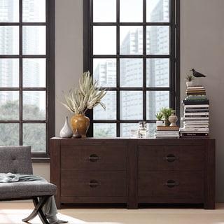 INK+IVY Monterey Espresso Brown Wooden 4 Drawer Dresser