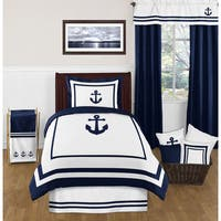 Sweet Jojo Designs Anchors Away 4-piece Comforter Twin Set