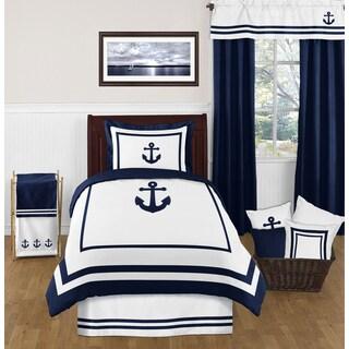 Sweet Jojo Designs Anchors Away 4-piece Comforter Twin Set