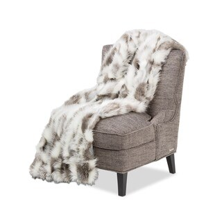 Michael Amini Bryant Faux Fur Throw
