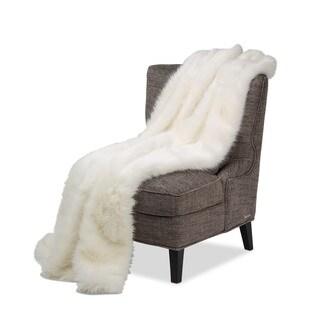 Michael Amini Bethany Faux Fur Throw