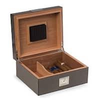 Bey Berk Carbon Fiber Design Wood 50-cigar Humidor