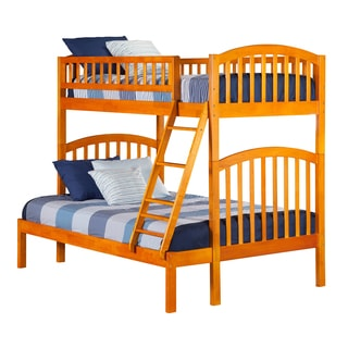 Richland Caramel Latte Wood Twin-over-full Bunk Bed