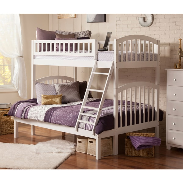 Richland White Wood Twin-over-full Bunk Bed