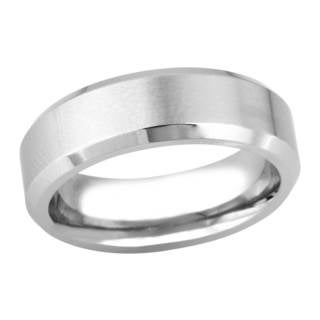 Silver Cobalt Men's Dual-finish Band