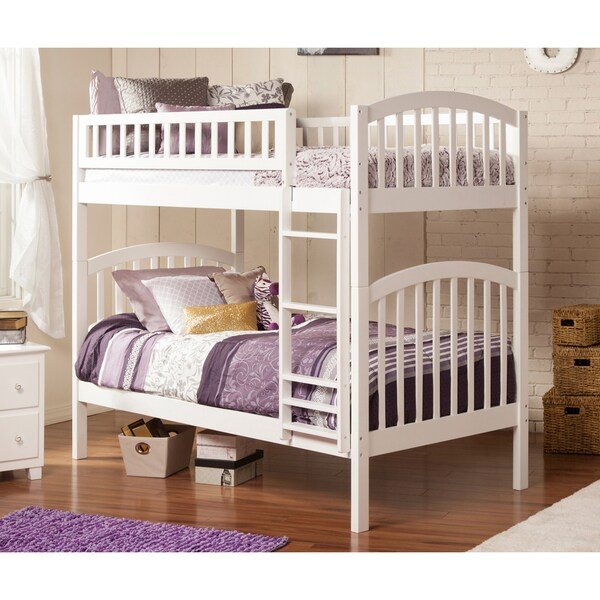 Atlantic Richland White-finish Wood and Rubberwood Twin-over-twin Bunk Bed