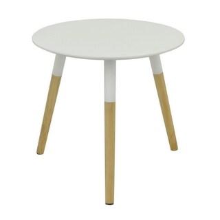 Three Hands Mid Century Modern White Wood Table