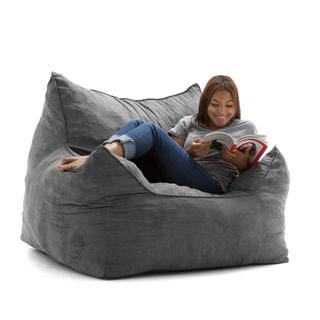 FufSack Big Joe Imperial Microsuede Memory Foam Bean Bag Lounger Chair