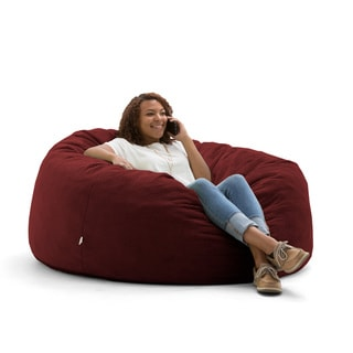 FufSack Big Joe Lux Large Textured Memory Foam Bean Bag Chair