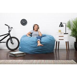FufSack Big Joe Lux Linen and Memory Foam Large Bean Bag Chair