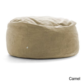 FufSack Big Joe Lux King Textured Polyester and Memory Foam Bean Bag Chair