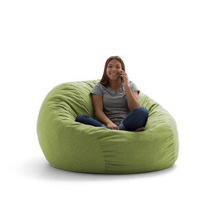 FufSack Big Joe Lux King Linen Memory Foam Bean Bag Chair